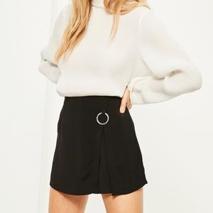 NWT Missguided Black Ring Overlay Detail